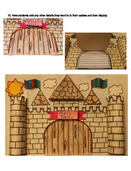 3-D Castle Story Template and Story Planner