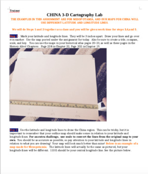 3-D China Play-dough Cartography Lab