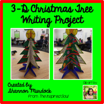 3-D Christmas Tree Writing Project