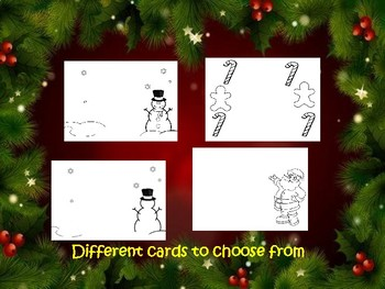 3 D Christmas card  or Picture