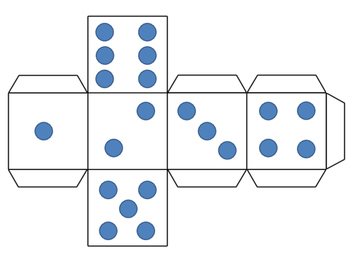 graphic relating to Printable Dice known as Foldable Cube