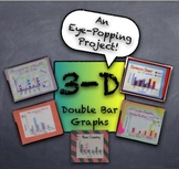 3-D Double Bar Graphs from Student Generated Survey Data - Fun Project