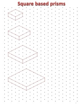 3 D Drawing Using Isometric Dot Paper