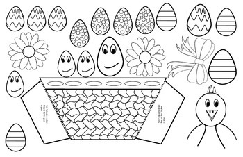 3-D Easter Bunny Story Template and Story Planner