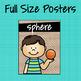 3-D Figures Posters ~ Burlap