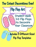 3-D Flip Flop Art! Inexpensive Student-Made Classroom Decorations