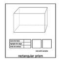 3-D Geometric Shapes Flip Book