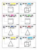3-D Geometric Shapes Task Cards
