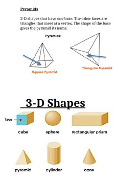 3-D Geometry - Notebook Resource