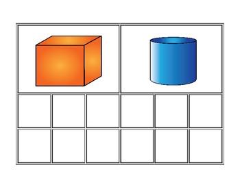 3 D Geometry Shape Sorting Mats