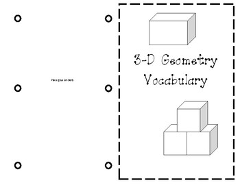 3-D Geometry Vocabulary (5th Grade) Journal Entry