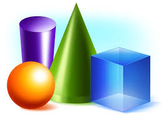 3-D Graphing of Cubes, Cylinders & Spheres
