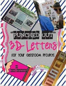 3-D Lettering for Projects and Word Work