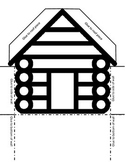3-D Log Cabin