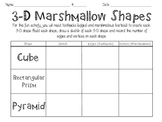 3-D Marshmallow Shapes