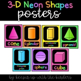 3-D Neon Shapes Posters