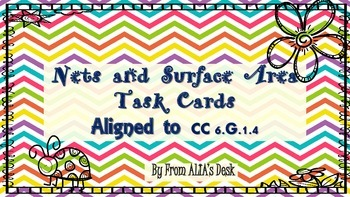 Common Core Nets and Surface Area Task Cards (2 in 1)
