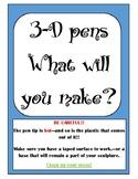 3-D Pen MakerSpace Instructions