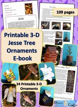 3-D Printable Jesse Tree Ornaments E-book