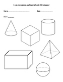 3-D Shape Assessment Page