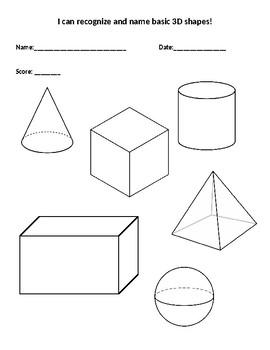 3-D Shape Assessment Page