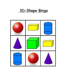 3-D Shape Bingo