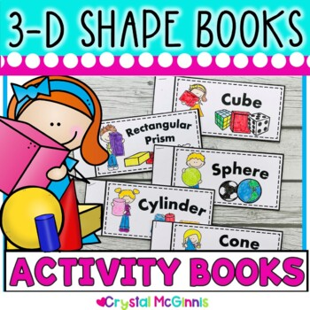 3-D Shape Books (3 Dimensional Cube, Sphere, Cylinder, Con