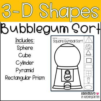 3-D Shape Bubblegum Sort