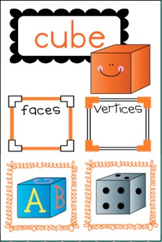 3-D Shape Bundle with Poster Kit AND Student Pages