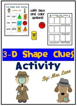 3-D Shape Clues Activity
