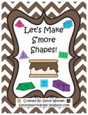 1.G.2, 2.G.1 Let's Create S'more 2-D & 3-D Shapes! Differentiated Math Station