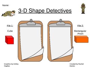 3-D Shape Detectives {Freebie}