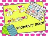 3-D Shape Geometry Maze Activity