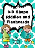 3-D Shape Lesson: Poster, Flashcard Riddles and Student Worksheet
