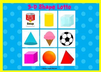 3-D Shape Lotto