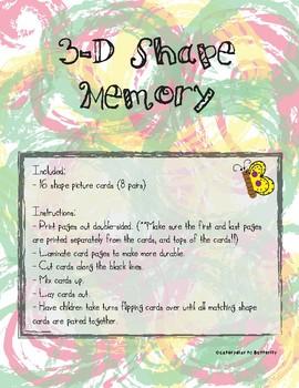 3-D Shape Memory