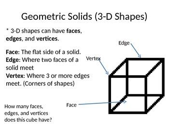 3-D Shape Notes