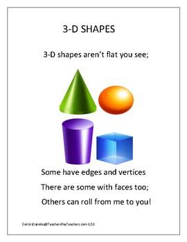 3-D Shape Poem