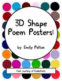 3-D Shape Poem Posters