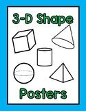 3-D Shape Posters