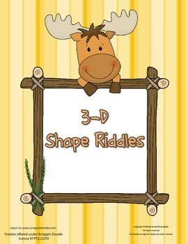 3-D Shape Riddles