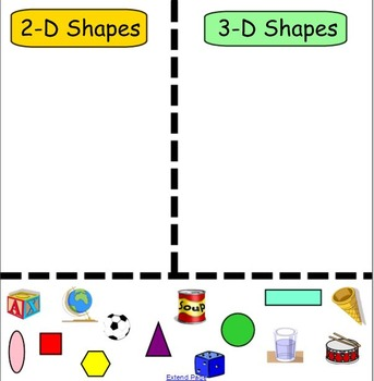 3-D Shape Sort