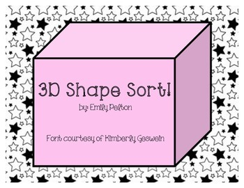 3-D Shape Sort!