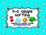 3-D Shape Sorting