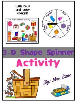 3-D Shape Spinner Activity