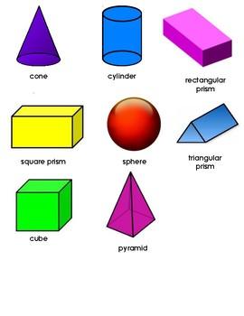 3-D Shape Study Sheet