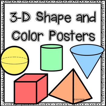 3-D Shape and Color Posters