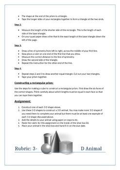3-D Shape building assignment
