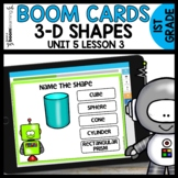 3-D Shapes BOOM CARDS | DIGITAL TASK CARDS | Module 5 Lesson 3