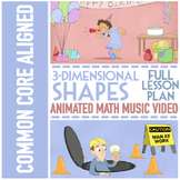 3D SHAPES Worksheets: with 3D Shapes Activities, Video, an